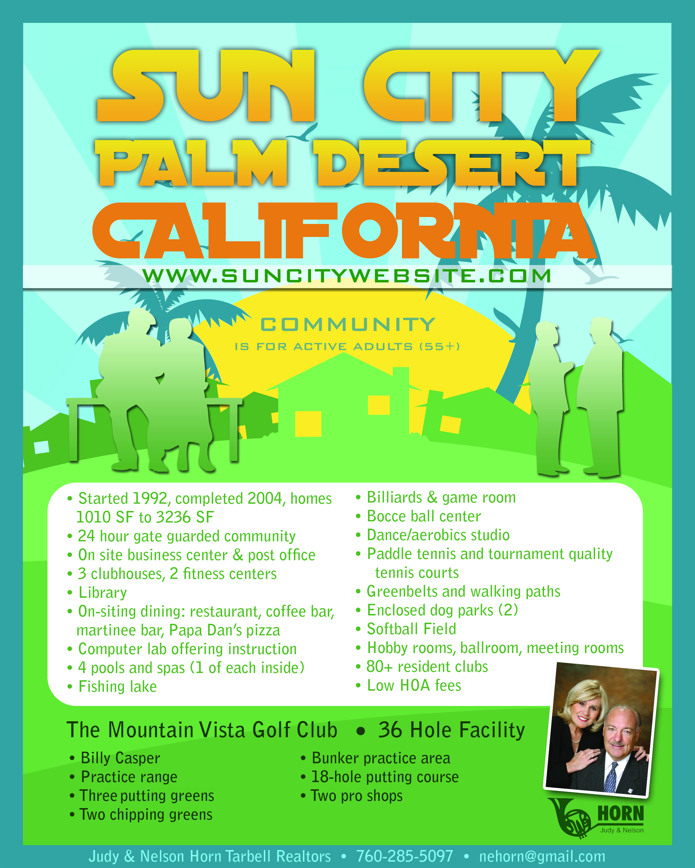 INFOGRAPHIC  SOME CITY PALM DESERT AMENITIES